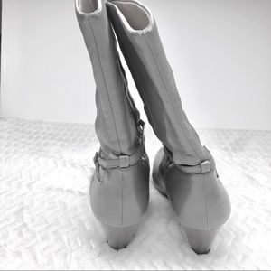 Frye Shoes - FRYE Lisa 8L Pleated Gray Boots, Size 9.5